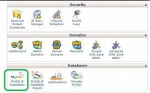 create mysql database from cpanel